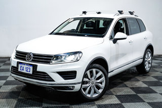 2017 Volkswagen Touareg 7P MY17 V6 TDI Tiptronic 4MOTION White 8 Speed Sports Automatic Wagon.
