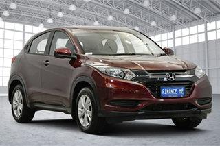 2018 Honda HR-V MY17 VTi Red 1 Speed Constant Variable Hatchback.