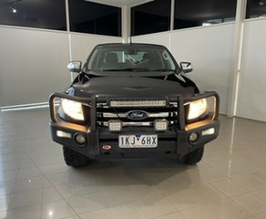 2014 Ford Ranger PX XLT Double Cab Black 6 Speed Sports Automatic Utility.