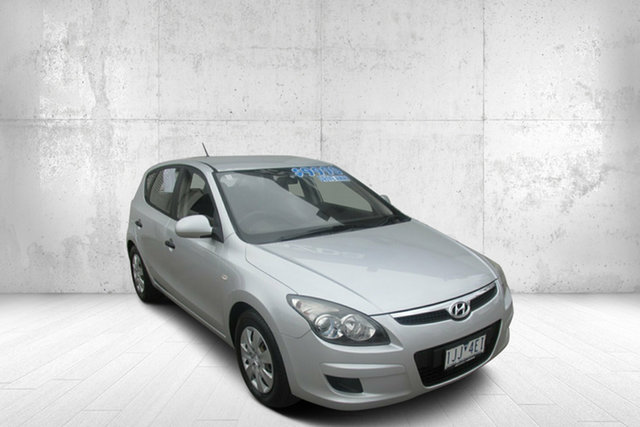 Used Hyundai i30 FD MY11 SX Bendigo, 2011 Hyundai i30 FD MY11 SX Silver 5 Speed Manual Hatchback