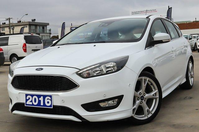 Used Ford Focus LZ Titanium Coburg North, 2016 Ford Focus LZ Titanium White 6 Speed Automatic Hatchback