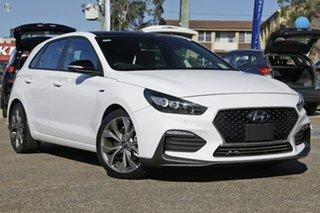 2021 Hyundai i30 PD.V4 MY21 N Line Premium White 6 Speed Manual Hatchback.