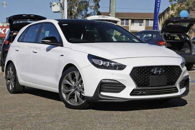 New Hyundai i30 PD.V4 MY21 N Line Premium Oakleigh, 2021 Hyundai i30 PD.V4 MY21 N Line Premium White 6 Speed Manual Hatchback