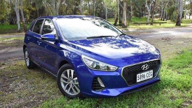 Used Hyundai i30 PD2 MY19 Active Ingle Farm, 2019 Hyundai i30 PD2 MY19 Active Blue 6 Speed Sports Automatic Hatchback