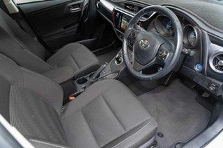 2018 Toyota Corolla ZWE186R Hybrid E-CVT White 1 Speed Constant Variable Hatchback.