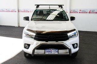 2017 Toyota Hilux GUN126R SR5 (4x4) Crystal Pearl 6 Speed Automatic Dual Cab Utility.
