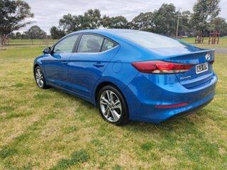 2016 Hyundai Elantra AD MY17 Elite Marina Blue 6 Speed Sports Automatic Sedan.
