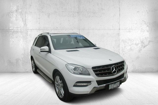 Used Mercedes-Benz M-Class W166 ML250 BlueTEC 7G-Tronic + Bendigo, 2013 Mercedes-Benz M-Class W166 ML250 BlueTEC 7G-Tronic + White 7 Speed Sports Automatic Wagon