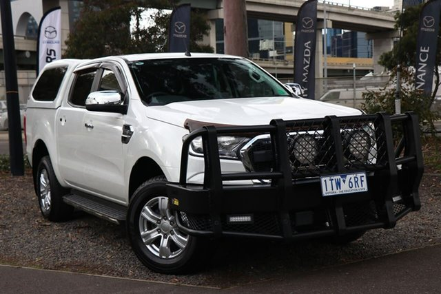 Used Ford Ranger PX MkII XLT Double Cab South Melbourne, 2016 Ford Ranger PX MkII XLT Double Cab Cool White 6 Speed Sports Automatic Utility