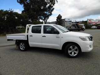 2012 Toyota Hilux GGN15R MY12 SR White 5 Speed Manual Cab Chassis.