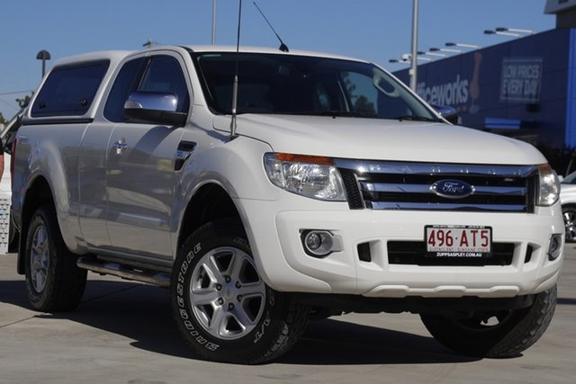 Used Ford Ranger PX XLT Super Cab 4x2 Hi-Rider Aspley, 2014 Ford Ranger PX XLT Super Cab 4x2 Hi-Rider White 6 Speed Sports Automatic Utility