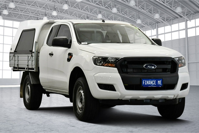 Used Ford Ranger PX MkII 2018.00MY XL Hi-Rider Victoria Park, 2017 Ford Ranger PX MkII 2018.00MY XL Hi-Rider White 6 Speed Sports Automatic Cab Chassis
