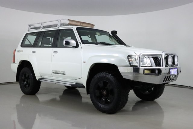 Used Nissan Patrol GU VIII ST (4x4) Bentley, 2013 Nissan Patrol GU VIII ST (4x4) White 5 Speed Manual Wagon