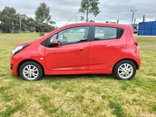 2014 Holden Barina Spark MJ MY14 CD Red 4 Speed Automatic Hatchback.