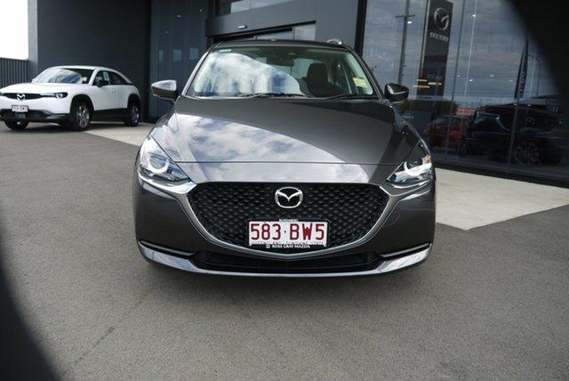 Demo Mazda 2 DL2SAA G15 SKYACTIV-Drive Pure Bundaberg, 2021 Mazda 2 DL2SAA G15 SKYACTIV-Drive Pure Grey 6 Speed Sports Automatic Sedan