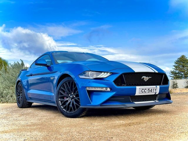 Used Ford Mustang FN 2020MY GT Christies Beach, 2019 Ford Mustang FN 2020MY GT Blue 10 Speed Sports Automatic Fastback
