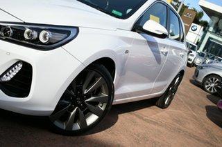 2017 Hyundai i30 PD SR Premium White 7 Speed Auto Dual Clutch Hatchback.