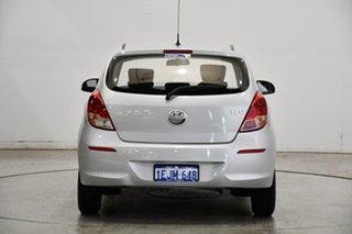 2013 Hyundai i20 PB MY14 Active Sleek Silver 6 Speed Manual Hatchback