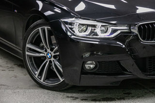 2017 BMW 3 Series F30 LCI 330i M Sport Black Sapphire 8 Speed Sports Automatic Sedan.