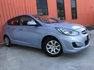 2012 Hyundai Accent RB Active Blue 5 Speed Manual Hatchback.