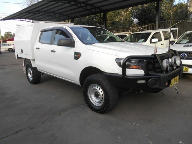 Used Ford Ranger PX MkII XL 3.2 (4x4) Bankstown, 2015 Ford Ranger PX MkII XL 3.2 (4x4) White 6 Speed Manual Crew Cab Chassis