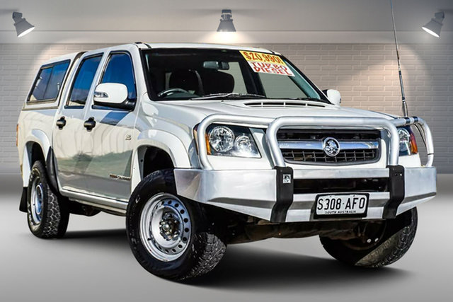 Used Holden Colorado RC MY10.5 LX Crew Cab Gepps Cross, 2010 Holden Colorado RC MY10.5 LX Crew Cab White 5 Speed Manual Cab Chassis
