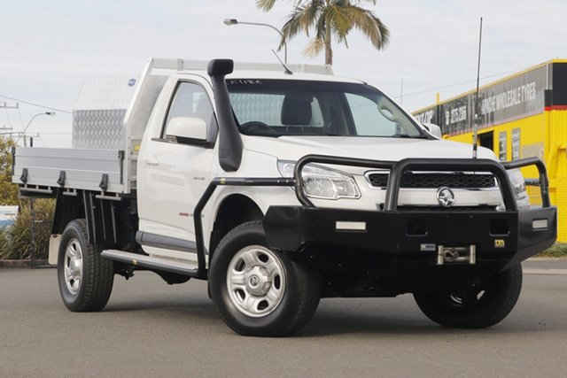 Used Holden Colorado RG MY14 LX Rocklea, 2014 Holden Colorado RG MY14 LX Summit White 6 Speed Sports Automatic Cab Chassis