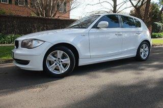 2010 BMW 118i E87 MY09 118i White 6 Speed Automatic Hatchback.