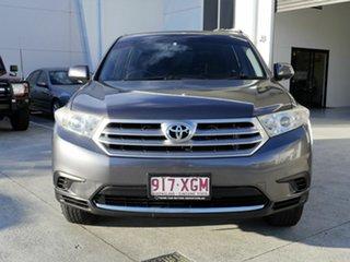 2012 Toyota Kluger GSU40R MY12 KX-R 2WD Grey 5 Speed Sports Automatic Wagon.