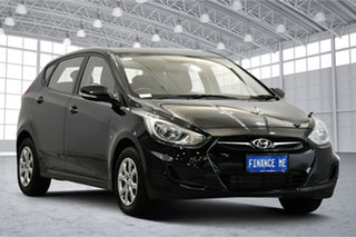 2012 Hyundai Accent RB Active Black 5 Speed Manual Hatchback.