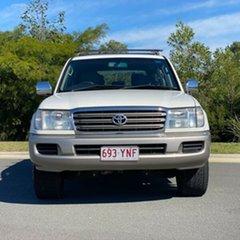2004 Toyota Landcruiser UZJ100R GXL White 5 Speed Automatic Wagon.