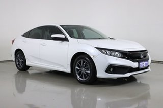 2019 Honda Civic MY19 VTi-S White Continuous Variable Hatchback.