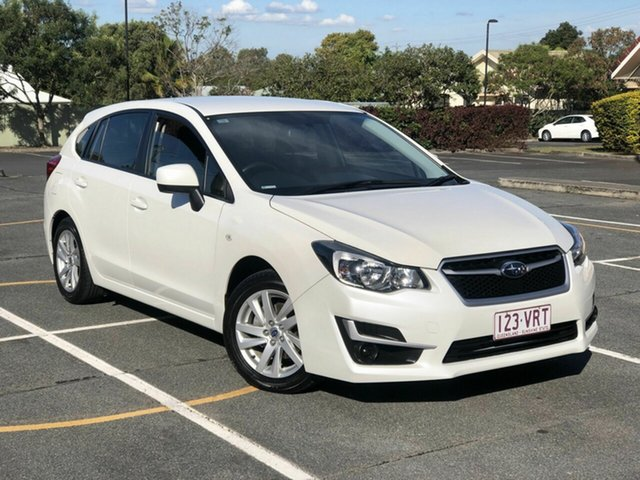 Used Subaru Impreza G4 MY15 2.0i Lineartronic AWD Chermside, 2015 Subaru Impreza G4 MY15 2.0i Lineartronic AWD White 6 Speed Constant Variable Hatchback