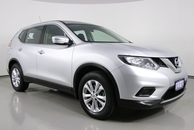 Used Nissan X-Trail T32 ST 7 Seat (FWD) Bentley, 2014 Nissan X-Trail T32 ST 7 Seat (FWD) Silver Continuous Variable Wagon