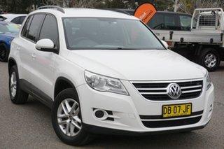 2010 Volkswagen Tiguan 5N MY10 103TDI 4MOTION White 6 Speed Sports Automatic Wagon.