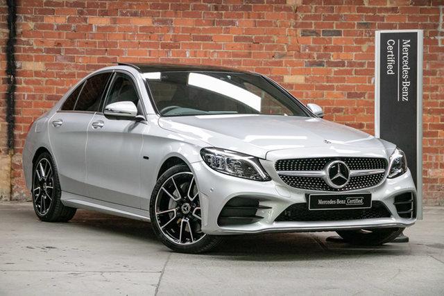 Certified Pre-Owned Mercedes-Benz C-Class W205 801MY C300 9G-Tronic e Mulgrave, 2020 Mercedes-Benz C-Class W205 801MY C300 9G-Tronic e Iridium Silver 9 Speed Sports Automatic Sedan