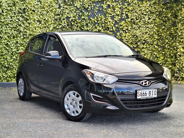 Used Hyundai i20 PB MY14 Active St Marys, 2014 Hyundai i20 PB MY14 Active Black 6 Speed Manual Hatchback