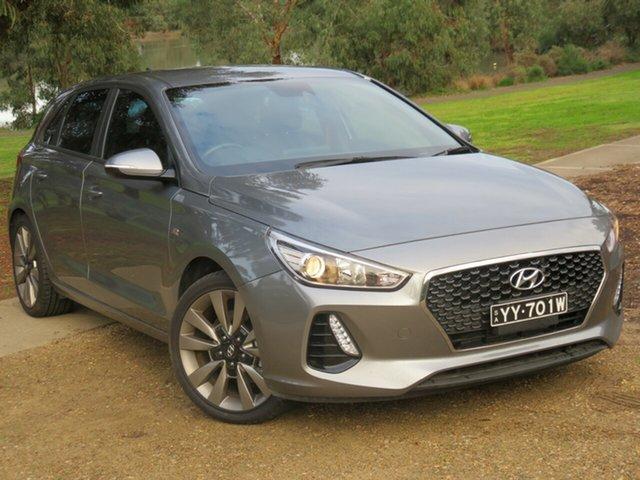 Used Hyundai i30 PD MY18 SR Morphett Vale, 2017 Hyundai i30 PD MY18 SR Grey 6 Speed Manual Hatchback