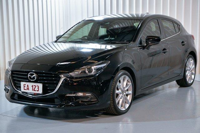 Used Mazda 3 BM5438 SP25 SKYACTIV-Drive Astina Hendra, 2016 Mazda 3 BM5438 SP25 SKYACTIV-Drive Astina Black 6 Speed Sports Automatic Hatchback