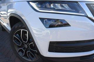 2021 Skoda Kodiaq NS MY21 132TSI DSG Moon White 7 Speed Sports Automatic Dual Clutch Wagon.