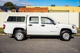 2010 Holden Colorado RC MY10.5 LX Crew Cab White 5 Speed Manual Cab Chassis.