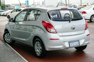 2015 Hyundai i20 PB MY15 Active Silver 4 Speed Automatic Hatchback.