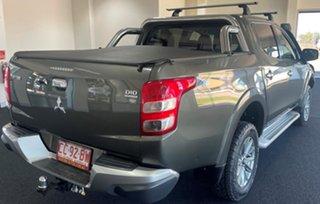2017 Mitsubishi Triton MQ MY18 GLS Double Cab Green 6 Speed Manual Utility.