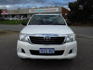 2012 Toyota Hilux GGN15R MY12 SR White 5 Speed Manual Cab Chassis
