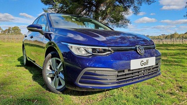 New Volkswagen Golf 8 MY21 110TSI Tanunda, 2021 Volkswagen Golf 8 MY21 110TSI Atlantic Blue 8 Speed Sports Automatic Hatchback