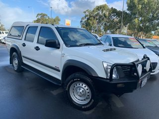 2007 Holden Rodeo RA MY07 LX Crew Cab White 5 Speed Manual Utility.