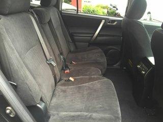 2010 Toyota Kluger GSU45R KX-R (4x4) 7 Seat Black 5 Speed Automatic Wagon