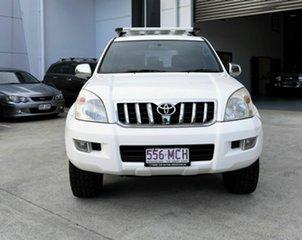 2005 Toyota Landcruiser Prado GRJ120R GXL White 5 Speed Automatic Wagon.