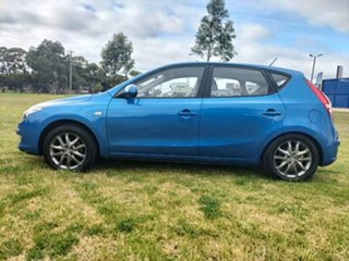 2010 Hyundai i30 FD MY11 SLX Vivid Blue 4 Speed Automatic Hatchback.