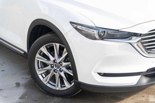 2018 Mazda CX-8 KG4W2A Asaki SKYACTIV-Drive i-ACTIV AWD White 6 Speed Sports Automatic Wagon.